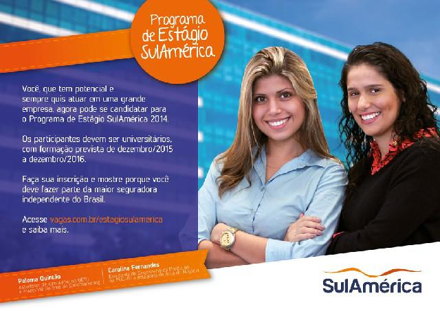 Programa de estágio sulamérica