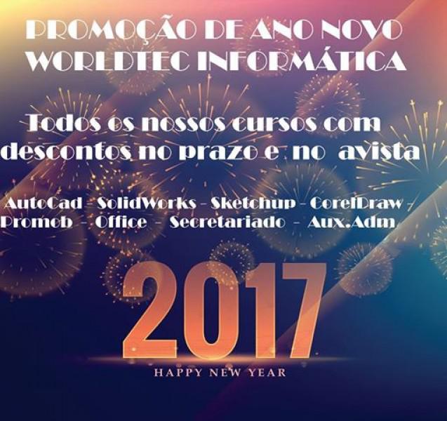 Promoção de ano novo em todos os cursos! termina em