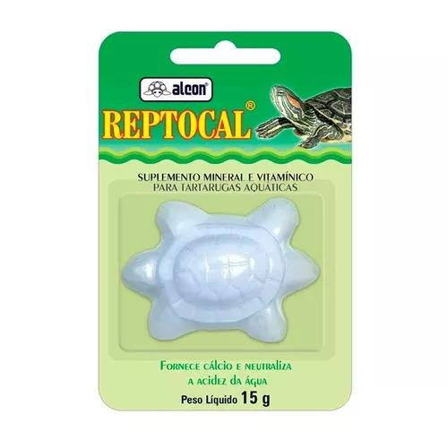 Ração alcon reptocal c/ cálcio para tartarugas - 15gr