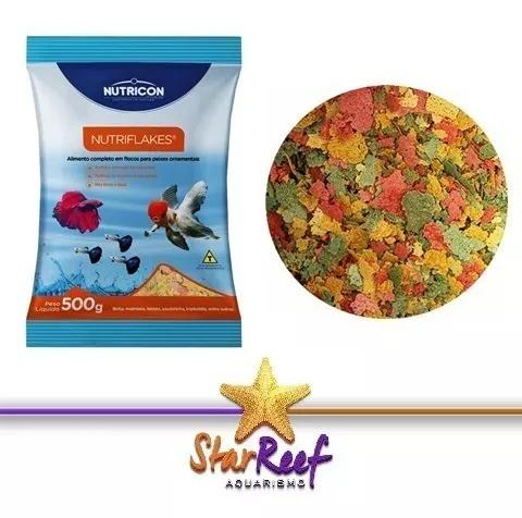Ração nutriflakes 500g nutricon