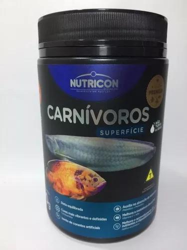 Ração para peixes nutricon carnívoros de superfície 300g