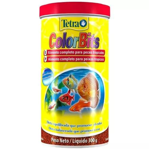 Ração para peixes tetra colorbits grânulos 300g