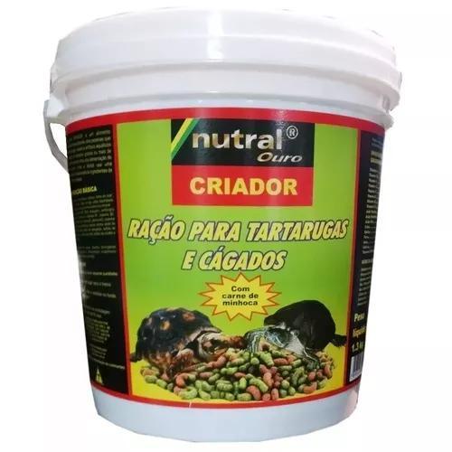Ração p/tartarugas e cágados criador nutral ouro 1,3kg