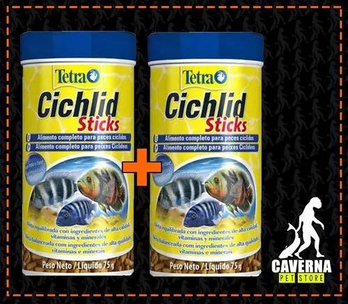 Ração tetra cichlid sticks 75g - 2 unidades cavernapet