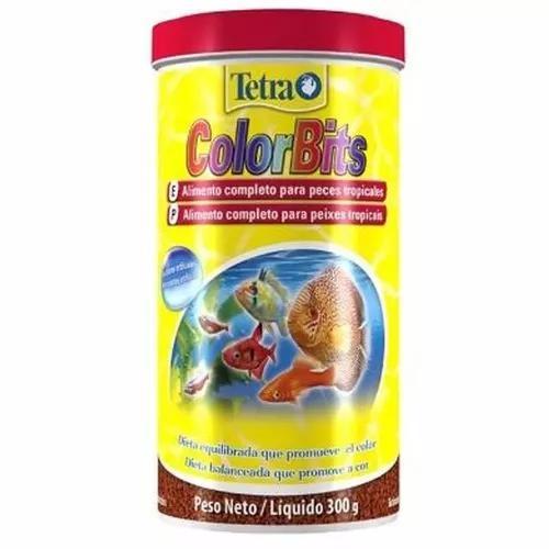 Ração tetra color bits tropical granules 300g pote val