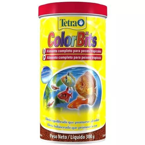 Ração tetra colorbits granules 1000ml - 300g + frete