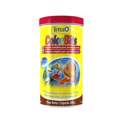 Ração tetra colorbits granules 300g para peixes de