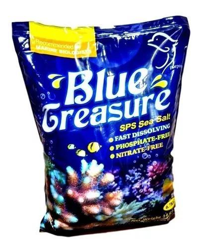 Sal p aquários marinhos blue treasure 6,7kg - sps sea salt