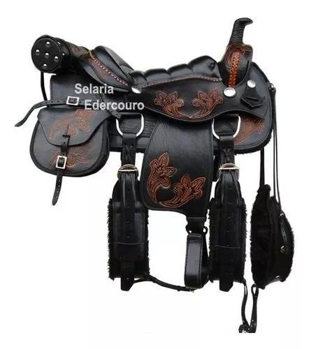 Sela americana completa para cavalgada couro de búfalo