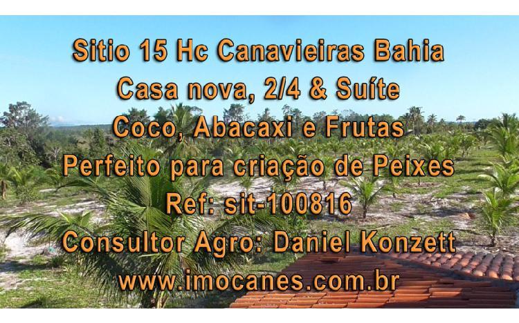 Sitio 15 hc para criação peixe canavieiras bahia br