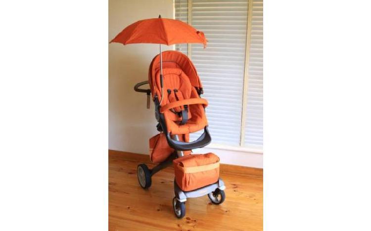 Stokke xplory v4 2014 3 em 1 laranja melange limited edition