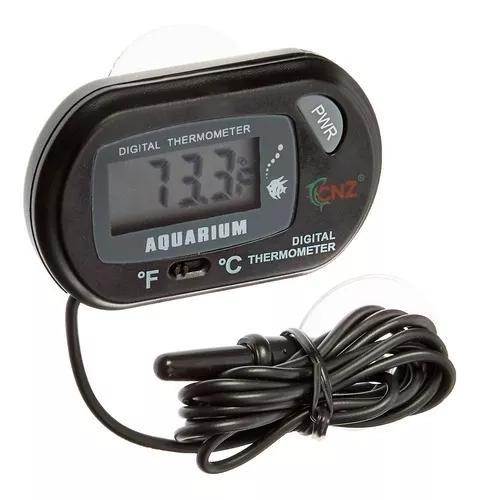 Termômetro digital alta precisão p/ aquários, fontes e