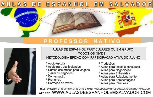 Traduções do espanhol - aulas de espanhol