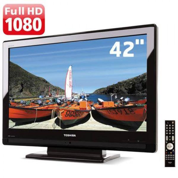 Tv 42p led toshiba full hd com conversor digital