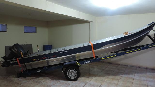 Vendo barco aluflex com motor yamaha 40 hp