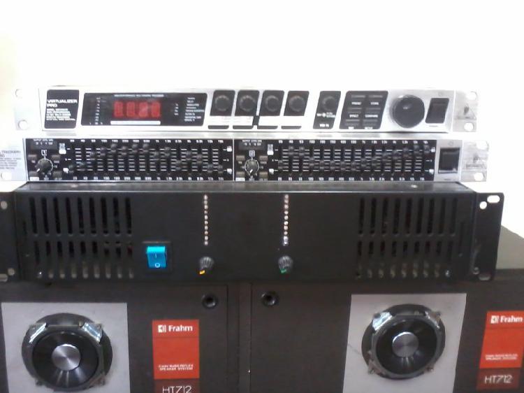 Vendo potencia de som e efeitos