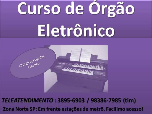 Aula de orgao para organistas da congregacao crista zona