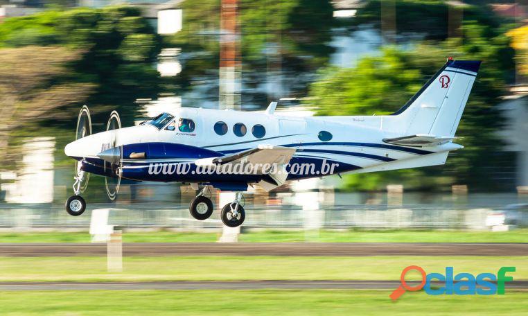 Avião turbo hélice beechcraft king air c90b – ano 1998 – 4095 h.t.