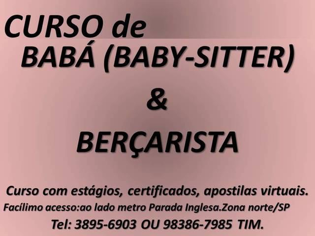 Curso de baba baby sitter bercarista zona norte sao paulo