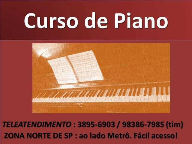 Curso de piano zona norte sp metro parada inglesa tucuruvi