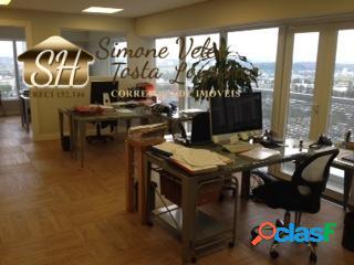 Sala comercial 110 m² em alphaville.