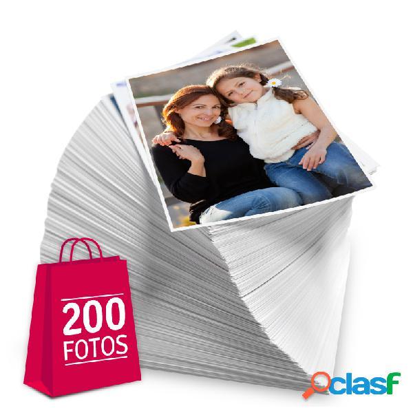 Revelação de fotos - Pacote de 200 fotos no tamanho 13x18 cm