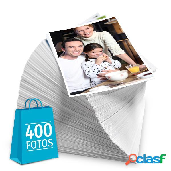 Revelação de fotos - Pacote de 400 fotos no tamanho 10x15 cm