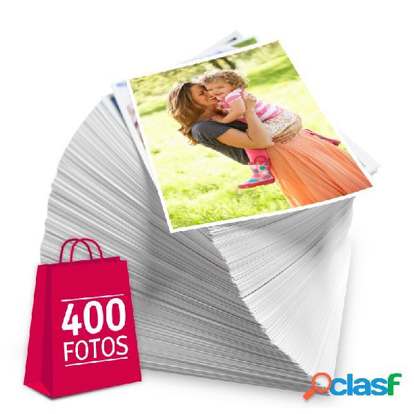 Revelação de fotos - Pacote de 400 fotos no tamanho 13x18 cm