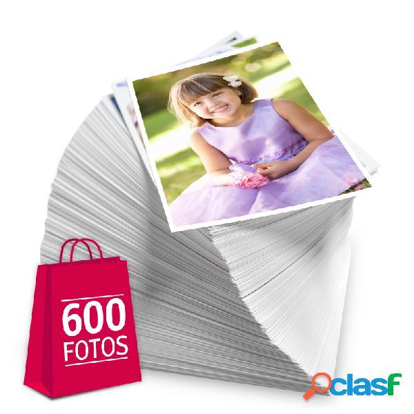 Revelação de fotos - Pacote de 600 fotos no tamanho 13x18 cm