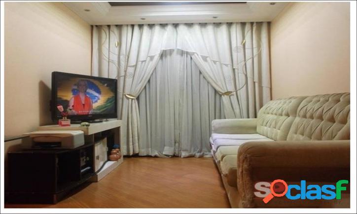 Excelente apartamento no tatuapé, 3 dormitórios, 2 salas, 1 banheiro, 1 vaga, 64 mts útil.