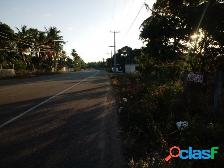 Terreno frente rodovia 5.012,76 m² área comercial e residencial - barra de coqueiros - se