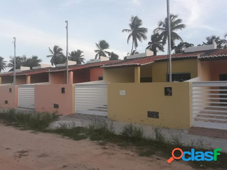 Casa nova só r$:125.000,00 em barra de coqueiros se