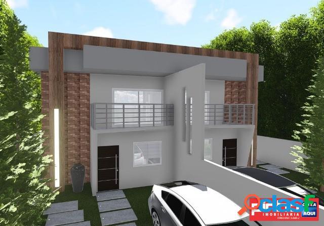 Casa geminada nova com 03 dormitórios (suíte), venda, bairro campeche, florianópolis, sc