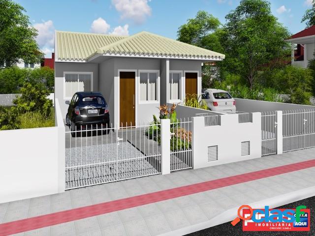 Casa geminada nova de 02 dormitórios, venda, bairro bela vista, palhoça, sc