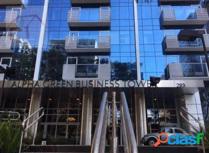 Sala comercial para locação, alpha green business tower