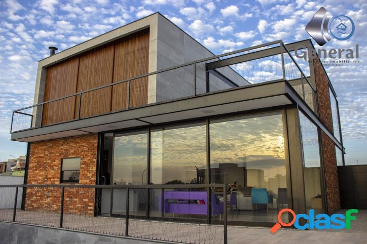 Linda casa estilo loft 3 suites closet piscina, área goumet