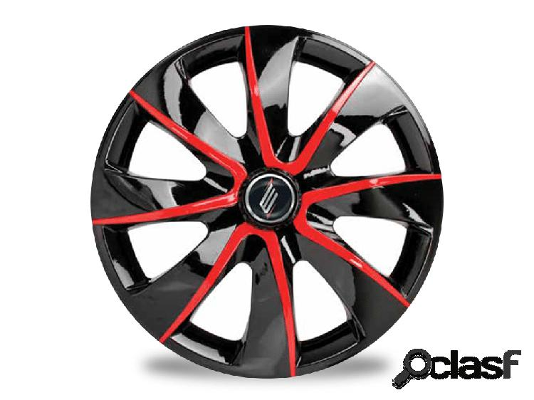 Calota elitte prime aro 13 black/red 4x100/4x108