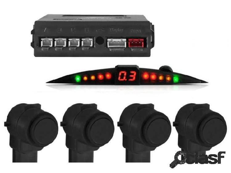 Sensor de estacionamento original preto com display slim