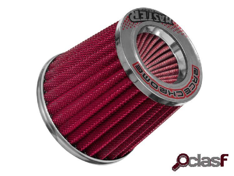 Filtro ar cônico race chrome duplo fluxo master vermelho