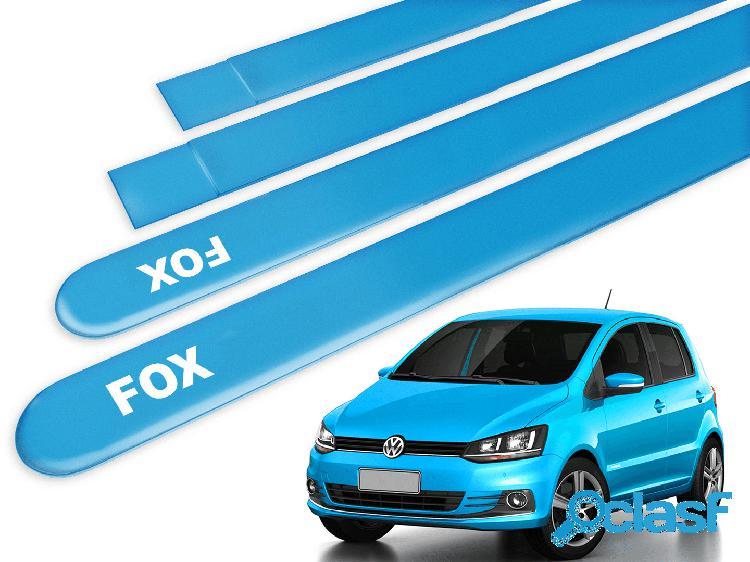 Friso lateral fox 2014 azul aqua 4pcs com grafia