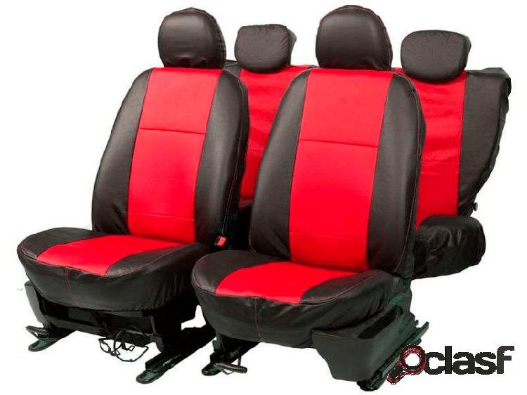 Capa banco courvim automotivo preto / vermelho car fashion