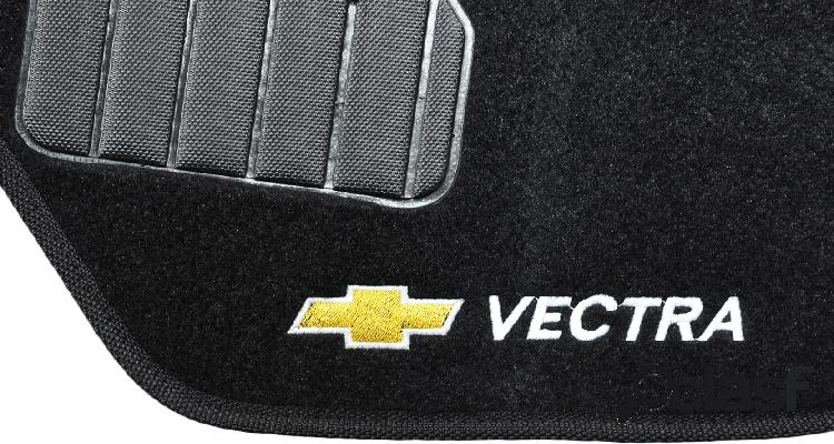 Tapete personalizado vectra gt 07/11 preto 5pç + trava segurança