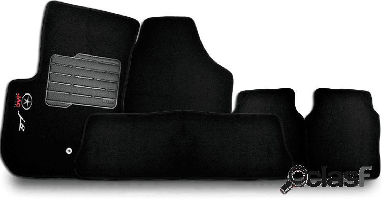 Tapete personalizado j6 09/15 preto 5pç + trava segurança