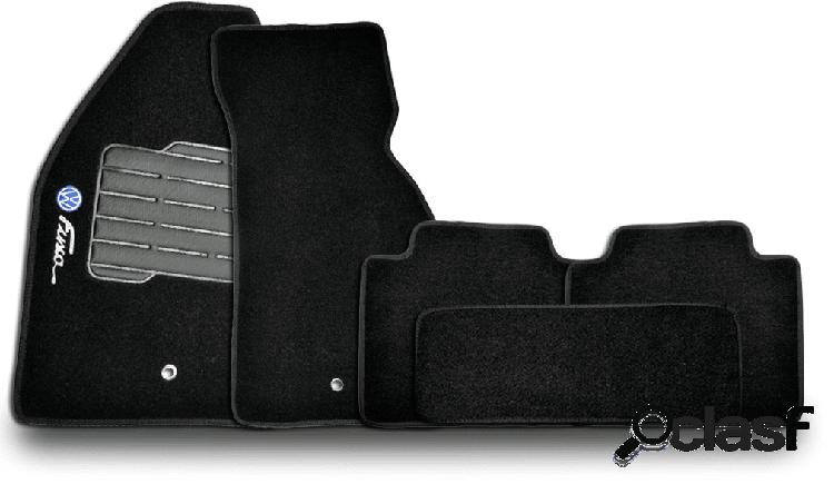 Tapete personalizado volkswagen fusca 50/96 preto 5pç + trava segurança