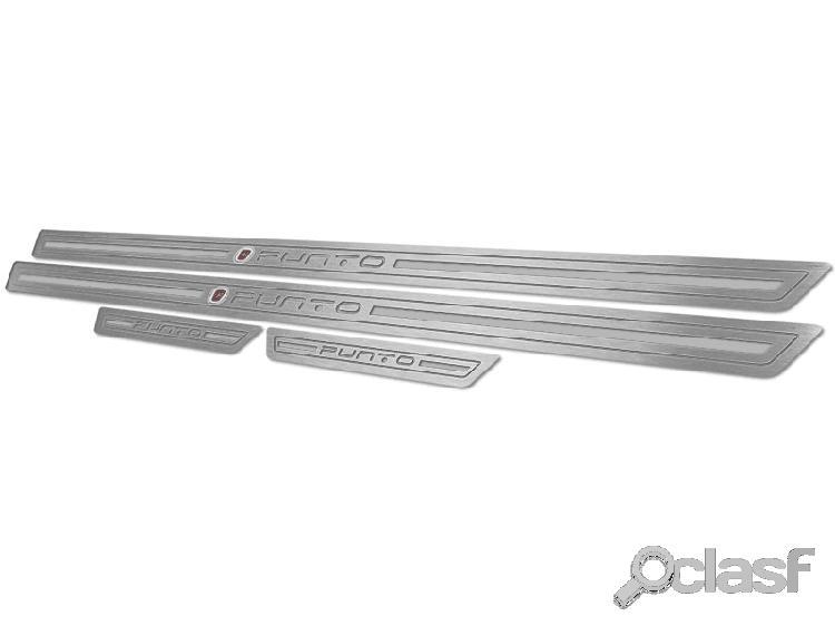 Soleira de porta punto 2013 em aço inox escovado prata