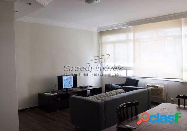 Apartamento em santos, josé menino, 2 dormitórios.