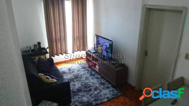 Apartamento em santos 1 dormitório - orla da praia de santos