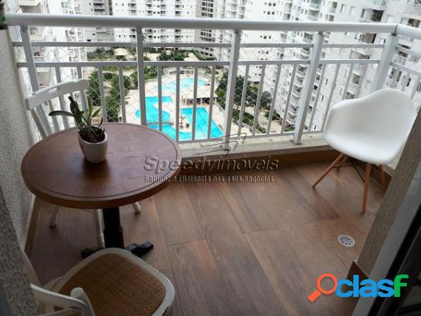 Apartamento em Santos 2 dormitórios, 2 vagas, lazer completo