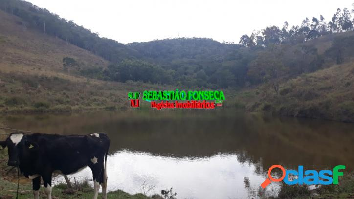 Sitio com lago 14 alqueires em paraibuna