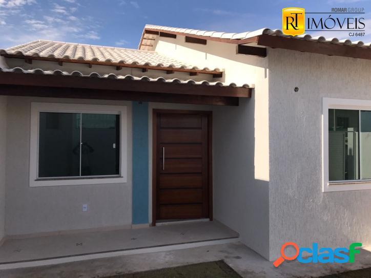 Casa nova linear em condomínio